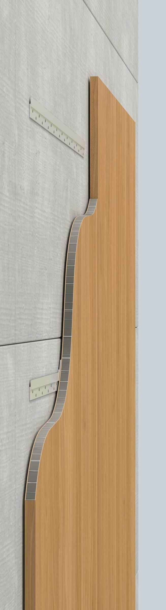 Profile view of a SoundPly acoustic wood panel