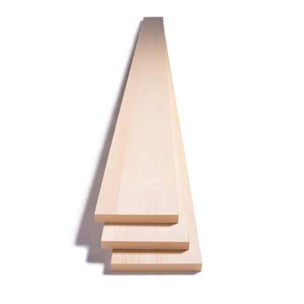 three stacked maple acoustic planks